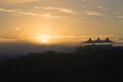 Sunrise at Goodwood Racecourse