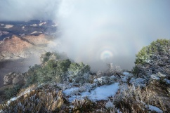 1042 Mist and Rainbow at Canyon