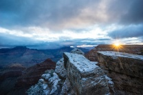 1045 Grand Canyon Winter Sunrise Snow