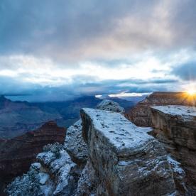 1045 Grand Canyon Winter Sunrise Snow