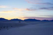 An evening walk in the heart of the desert