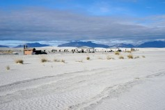 White sands starting point, way out in the desert and the picnic places.