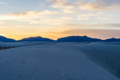 Out in the Desert at sundown - White Sands, New Mexico