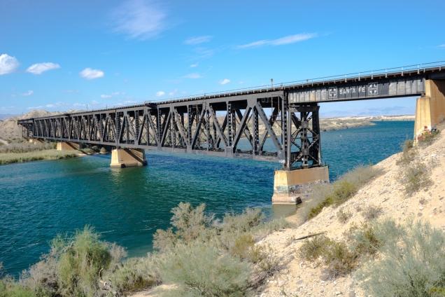 Santa Fe railroad bridge over the Colorado