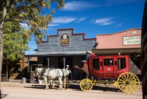 Stagecoach on Main Street, Tombstone, Arizona