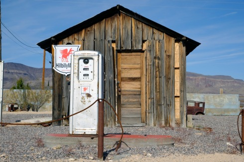 Hillbilly gas station at Yucca near Kingman Arizona