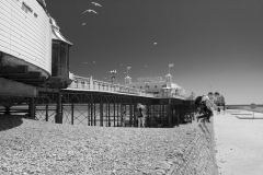 1800 Brighton Pier and Jump B&W 2