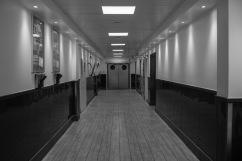 1800 Corridor at Gun Wharf BW