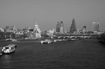 1800 Thames Skyline from Waterloo Bridge BW