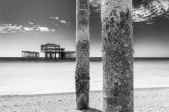 1800 The West Pier Remains 2015 B&W_