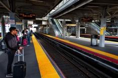 Jamaica Station on the LIRR Platform 1 to Penn