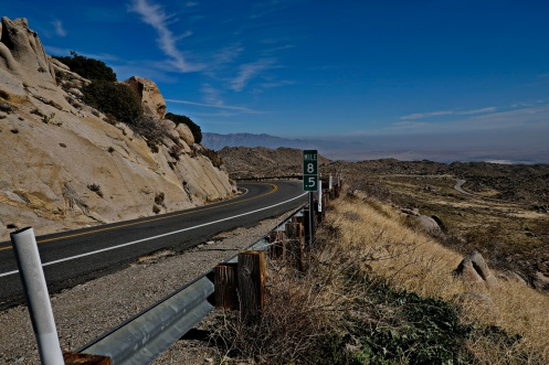 The 85 Mile Marker above Anza Borrego