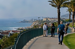 Dana Point and the Memorial Park on the cliffs