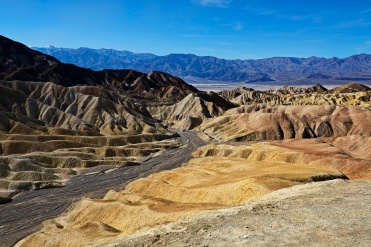 A view from Zabriskie Point down to Death Valley