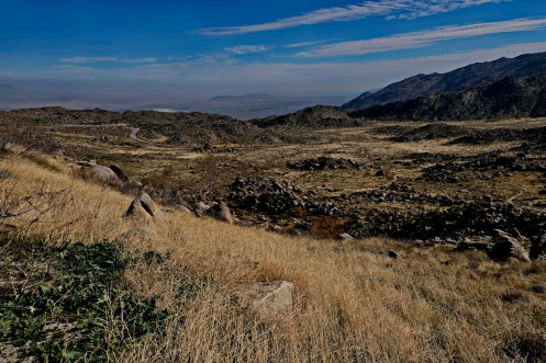 Down to Borrego and the Salton Sea in the distance