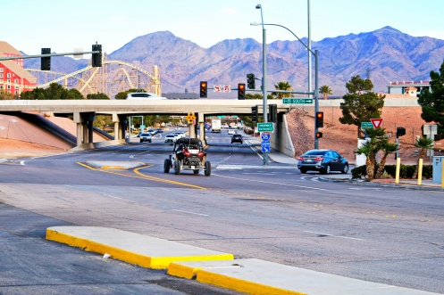 The junction at Primm, Nevada