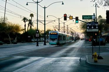 Main Street Mesa at dawn