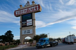 Whiskey Pete's striking entrance signage