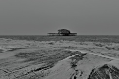 The remains of the West Pier at Brighton - January 2020