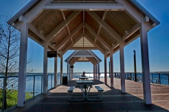 Lake Toho covered jetty and relaxation area