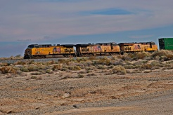Freight train by the Salton Sea, Southern California