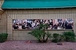 On the outside of a wall at Whiskey Petes, Primm, Nevada