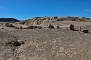Looking up at Tourists on Zabriskie Point
